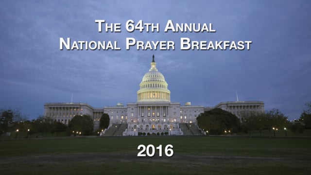National Prayer Breakfast 2016